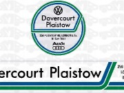 dovercourt plaistow - rear sticker and tax disc