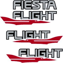Fiesta Flight Decals - Red