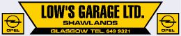 Lows Garage - Shawlands Glasgow - Opel - 290x60