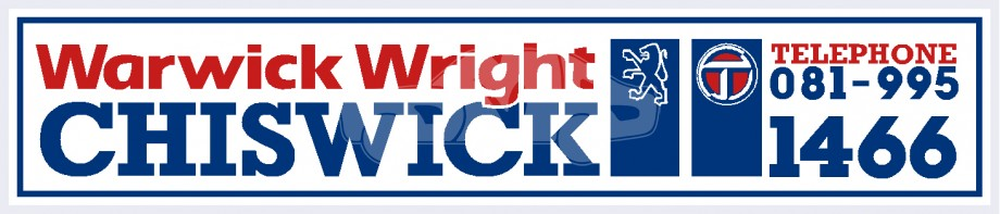 Warwick Wright - Chiswick London - Peugeot Talbot - Dealer Sticker
