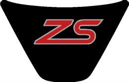 Fiesta Mk7 Steering Wheel Badge - ZS 2 - BlackRedChrome