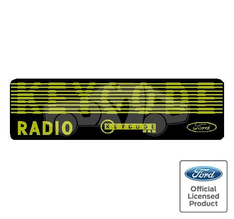 Ford Radio Keycode Decal * / DMB Graphics Ltd
