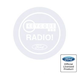 Ford Radio Keycode Decal - White