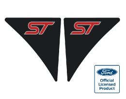 Fiesta Mk7 Wing Badges - ST - BlackRed
