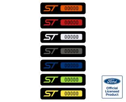 Fiesta ST Build Number Badges - Short version
